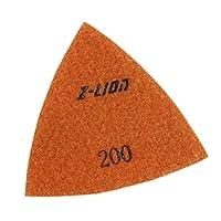 Baoblaze 三角ダイヤモンド研磨パッド80mm / 93mマナイトストーンコンクリート大理石 - 80mm 200#