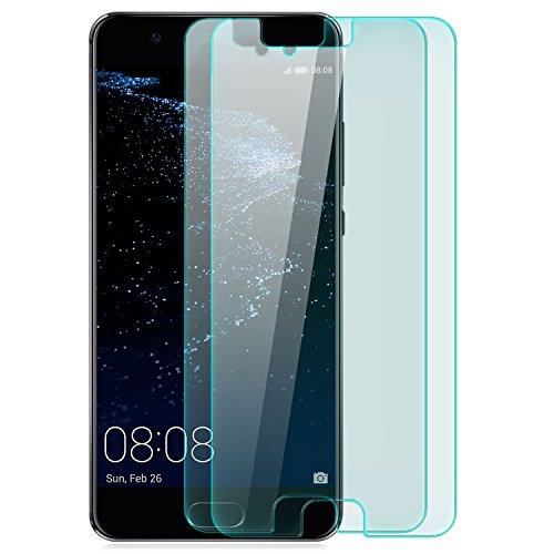 zanasta 2X Bildschirmschutz Folie aus Gehärtetem Glas Huawei P10 Lite (WAS-LX1A) Bildschirmschutzfolie Panzerglas Glasfolie Hartglas Schutzfolie | HD Klar Transparent