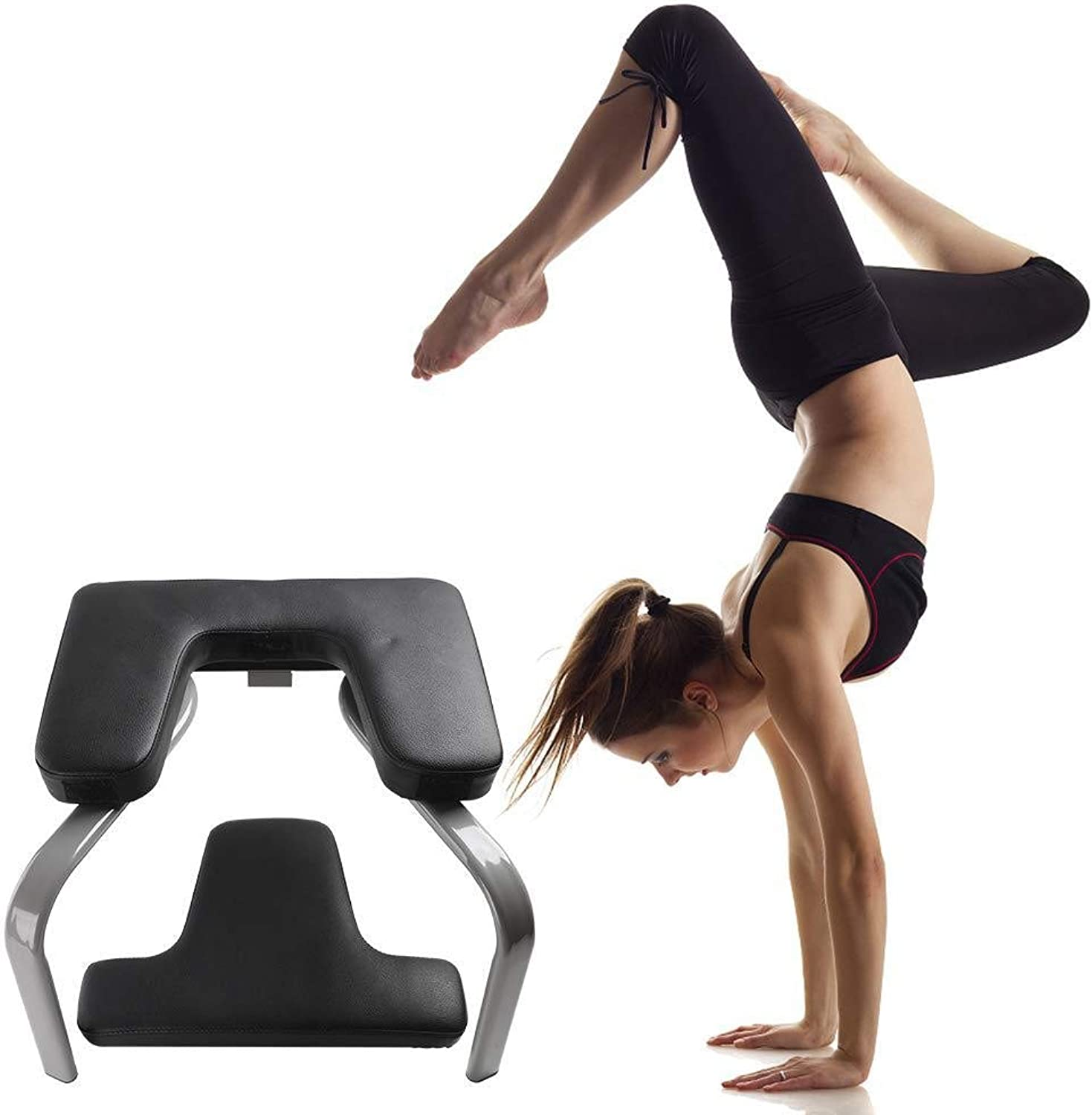 Yoga Headstand Chair, Yoga Aids Workout Chair, Fitness Studio Inversion Stool for Perfect Body, Relieve Fatigue and Build Up Body