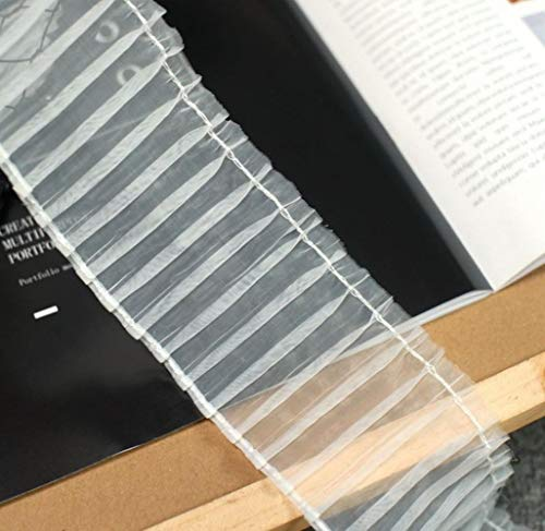 6.5 CM Breed Wit Zwart Tule Organza Jurk Kraag Guipurekant Manchetten Hals Fringe Handgemaakte DIY Naaibenodigdheden