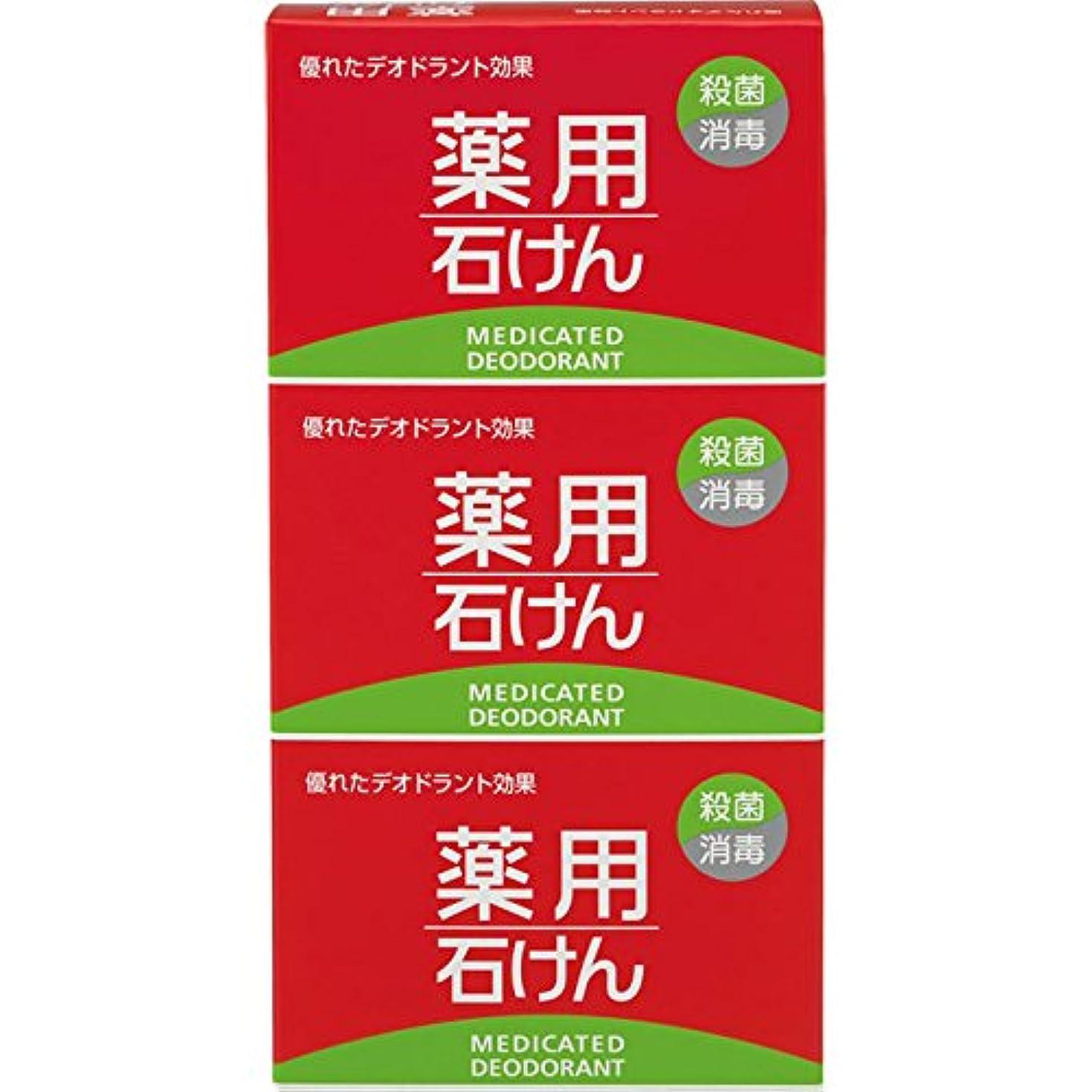 シンボル容器これまで熊野油脂 薬用石けん 100g×3個 (医薬部外品)