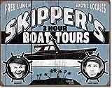 WOOOOL Gilligan'S Island – Skipper Tours Retro Vintage Wall TinRetro Cartel de pared para decoración del hogar, cafetería, bar, pub 20 x 30 cm