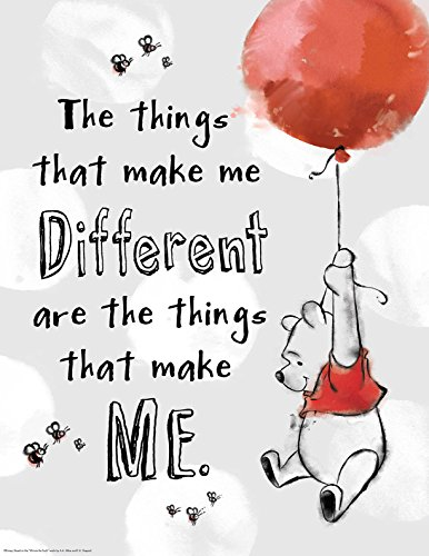 "Eureka Classroom Posters, Measures: 17"" x 22"" - Winnie the Pooh - The Things That Make Me Different"