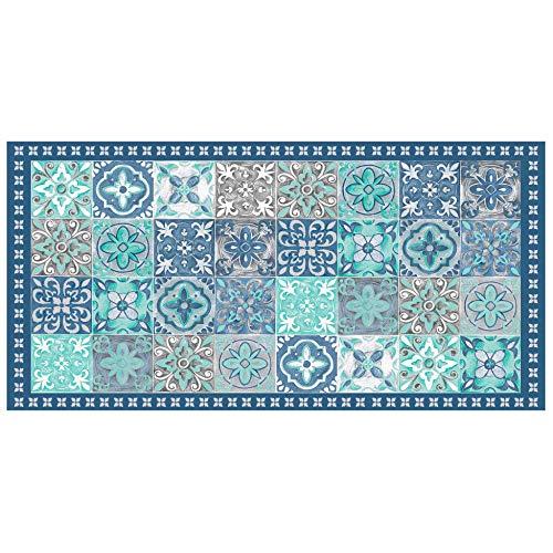 Weicher, Teppich, rechteckig, 50 x 100 cm, Vinyl, Blau