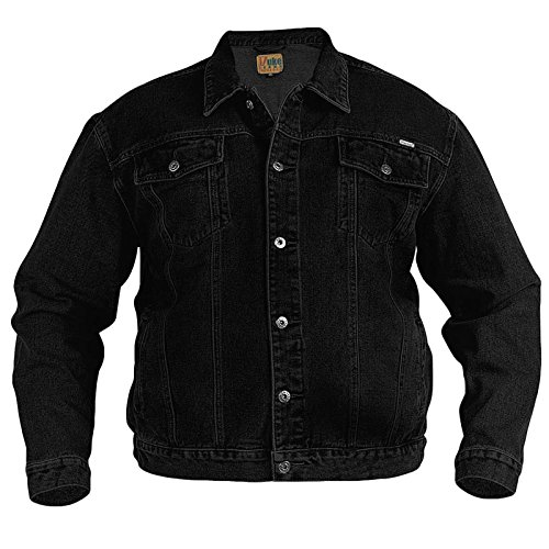 Duke D555 Big Tall Size Denim Jacket - Black - 4XL
