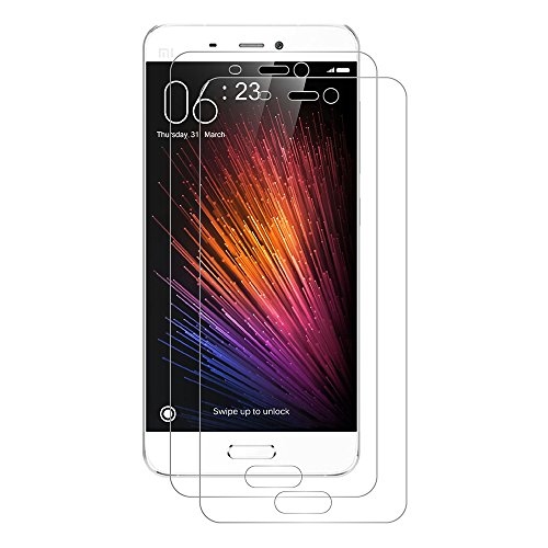 AICEK [2 Pack] Xiaomi Mi 5 Pellicola Protettiva, Xiaomi Mi 5 5.15 Pollici Screen Protector Toccare Compatibile Pellicola Protettiva Ultra Resistente in Vetro temperato per Xiaomi Mi 5 Vetro