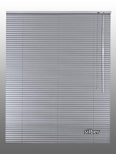 Alu-Aluminium Jalousie Rollo Jalousette 240 x 150 cm / 240x150 cm in Farbe silber - Bedienseite rechts