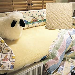 SnugFleece Wool Mattress Topper Pad Cover, Crib