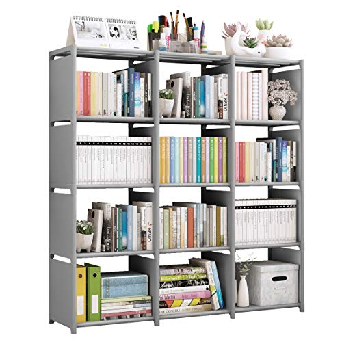 Rerii Cube Storage, 4 Tier 12 Cubes Organizer Shelves, Bedroom Storage, Clothes Organizer, DIY Closet Bookcase Shelve for Living Room, Study Room, Bedroom and Office