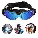 PETEMOO Gafas de Sol para Perro con protección UV, Resistentes al Viento, con Correa Ajustable