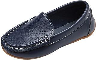 Mocassins Oxford Chaussure Mixte Enfant A-Enfiler Cuir Plates Loafer Loisirs Confort Fille Garçon Chaussure Bateau