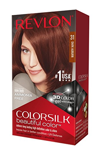 Revlon ColorSilk Haircolor, Dark Auburn, 4.40 Total Ounces (Pack of 3)