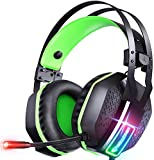 Mifanstech V-10 Gaming Headset for Xbox One Playstation PS4 PS5 PC - 3.5mm Surround Sound, Noise Reduction Game Headphone with Microphone and Volume Control for Laptop, Tablet,Switch Games