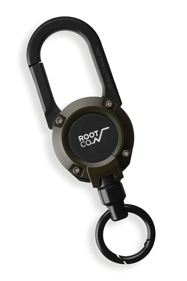 置き場素晴らしさ素晴らしさ【ROOT CO.】マグネット内蔵カラビナリール GRAVITY MAG REEL 360 (カーキ/マット)