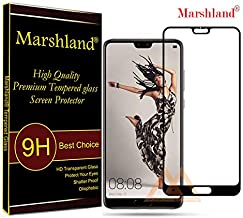 MARSHLAND Tempered Glass 5D Full Glue Screen Protector Anti Scratch Bubble Free Edge to Edge Compatible with Huawei P20 Pro (Black)