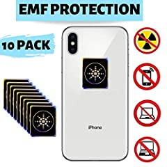 🚨FLASH SALE🚨FEEL INSTANT RELIEF! - Imagine the feeling the instant relief from up to 99% of EMF Radiation. Our uniquely attractive slim sticker can be stuck anywhere, so you and your loved ones are in the healthiest best environment possible. ✅ RADIA...