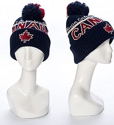 Robin Ruth - Navy Red Canada Roots Unisex Beanie 4b093543f45