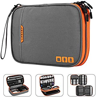 Acoki Portable Electronic Accessories Travel case,Cable Organizer Bag Gadget Carry Bag for iPad,Cables,Power,USB Flash Dri...