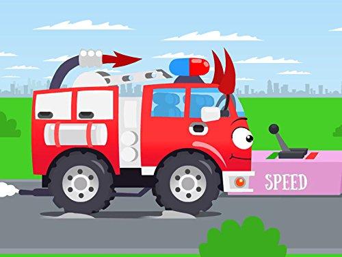 Rot Feuerwehrauto