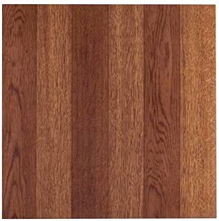 NEXUS 12x12 Self Adhesive Vinyl Floor Tile - 20 Tiles/20 Sq.Ft. (Medium Oak Plank-Look)