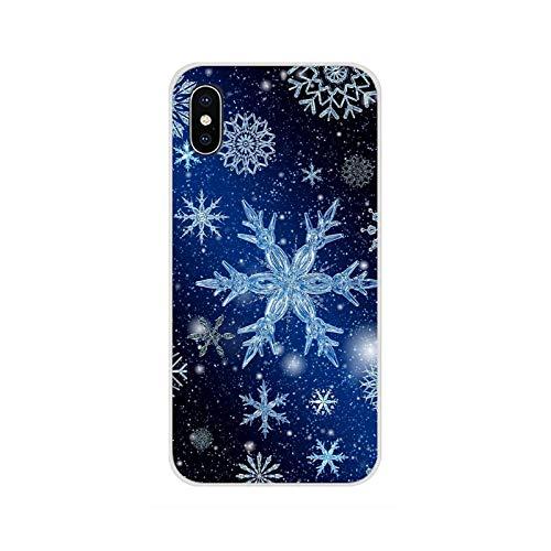 Para Huawei G7 G8 P8 P9 P10 P20 P30 Lite Mini Pro P Smart Plus 2017 2018 2019 Accesorios Shell del teléfono Cubiertas Navidad Snowflake-imágenes 11-Para P9 Lite 2017
