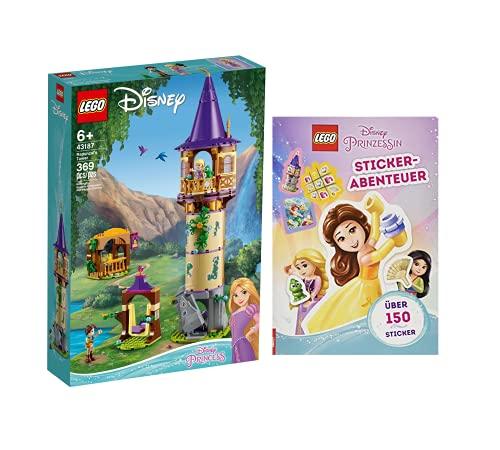 Collectix Lego 43187 - Juego de pegatinas de la Torre de Rapunzels de Disney (cubierta blanda)