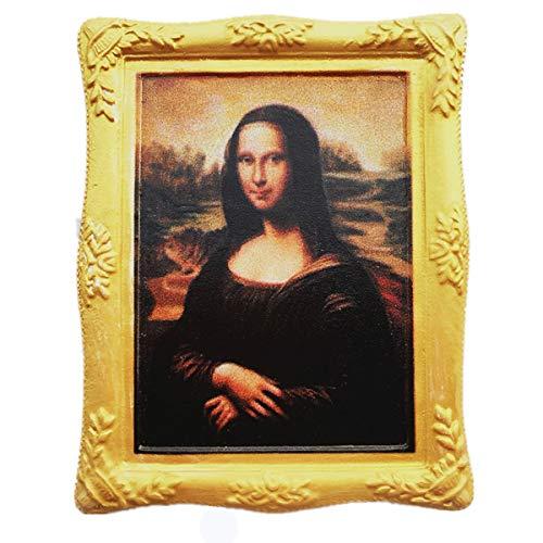 Famous Painting Mona Lisa of Leonardo da Vinci 3D Fridge Magnet Louvre Paris France Souvenir Gift,Home & Kitchen Decoration Magnetic Sticker Refrigerator Magnet Collection