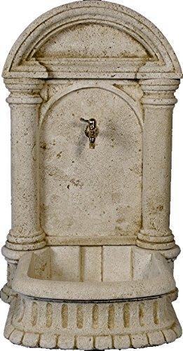 DEGARDEN Fuente Pared Carmen hormigón-Piedra Exterior jardín 69X60X110cm.