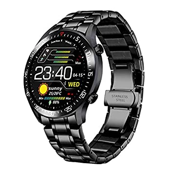 Men Smart Watch, New Steel Band Monitor Heart Rate Blood Pressure Monitor Smart Activity Tracker Watch Calorie Counter for iOS Android Phone