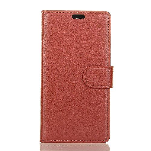 Xiaomi Redmi Note 4 Wallet Case,SUNWAY [Kickstand Feature] [Card Slot] Premium PU Leather Flip Fold Wallet Case Full Cover Case for Xiaomi Redmi Note 4 - Brown