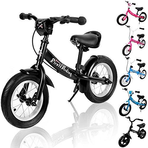 """Deuba Bicicletta senza pedali bici per bambini 10"""" bici equilibrio altezza regolabile con freno nero"""