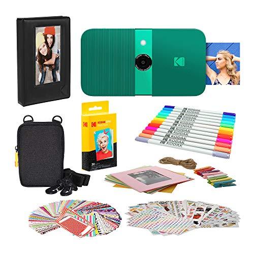 KODAK Smile Instant Print Cámara Digital (Verde) Marco de Fotos con Funda Blanda