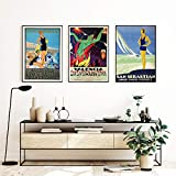 zuomo España Barcelona San Sebastián Valencia Fallas Carteles Impresiones Vintage Viaje Lienzo Pintura Cuadro Moderno hogar habitación decoración 50x70cmx3 sin Marco