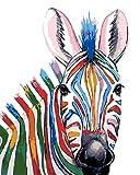 YUHHGFK DIY Pintura por Números Caballo Animal Pint por Número de Kits con Pinceles y Pinturas para Adultos, niños y Principiantes Decoraciones Hogar - 40 X 50 cm (con Marco de Madera)