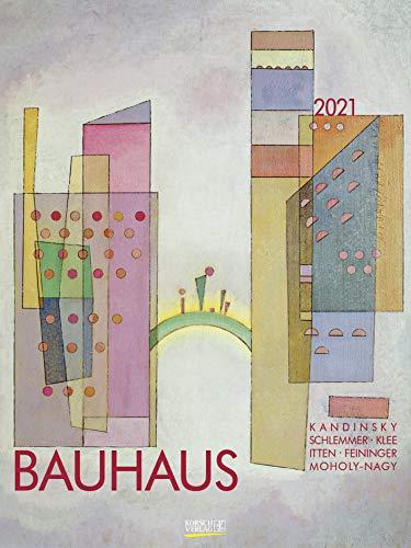 Bauhaus 2021: Großer Kunstkalender. Hochwertiger Wandkalender mit Meisterwerken des Bauhaus Stils. Kunst Gallery Format: 48 x 64 cm.