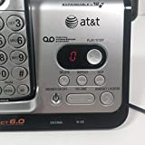 AT&T CL82209 DECT 6.0 Cordless Phone, Black/Silver, 2 Handsets