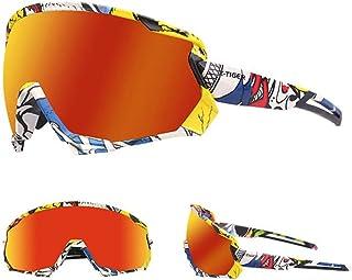 X-Tiger Gafas de sol polarizadas para hombres y mujeres, protección UV, ciclismo, ciclismo, deportes, pesca, correr, conducir motocicleta (color: colorido)