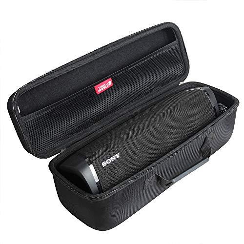 Funda rígida de viaje EVA para Sony SRS-XB43 Altavoz Bluetooth inalámbrico portátil por Hermitshell (negro)