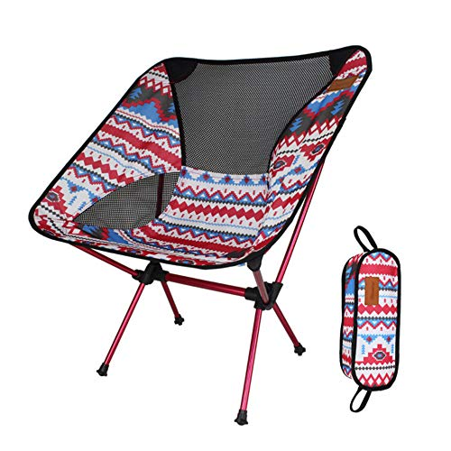 HUATINGRHFC Portable Folding Chairs, Portable Lightweight Folding Beach Chair with Carry Bag, It is The Best Choice for Outdoor Travel, Camping Picnic, Fishing and Playing Chess Foldable, A