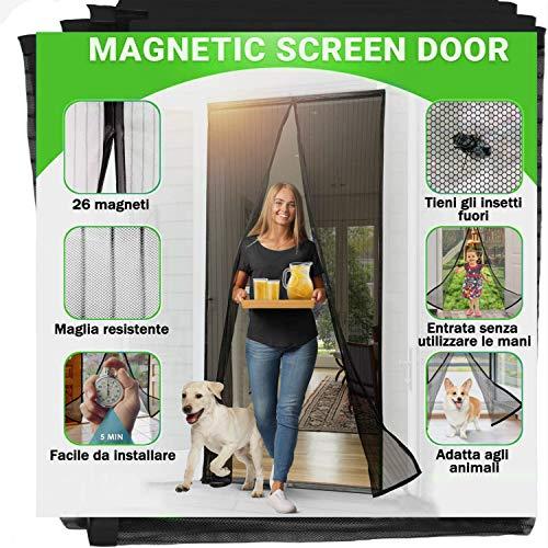 90x210CM Zanzariera Magnetica per Porte - Rete Super Fine Zanzariere Magnetiche, auto-chiusura Impedisce Agli Insetti Di Entrare Zanzariere Porta per Casa