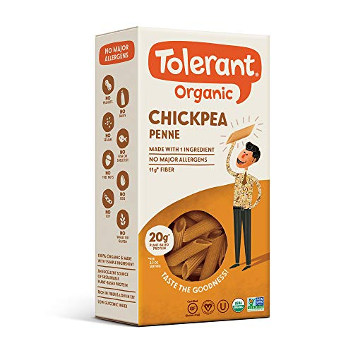 Tolerant Foods – Organic Chickpea Pasta – Penne - 8 Oz