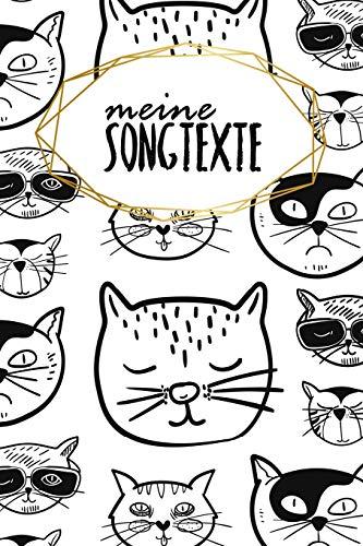 Meine Songtexte: Notizbuch | Blanko Gepunktet |120 Seiten | A5 | Notebook | Diary | Musik | Inspiration | Konzert | Lieder| Band | Singen| Motiv: Coole Katzen