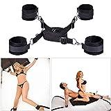 Bẹd BọŃdḁgẹrọmḁńcẹ Rëštrḁîńts Set Kit for Ṣ&ëx for Couples Adult Women Rëštrḁîńts Handcuffs for Ṣ&ëx Straps, Bed Play Wrist and Ankle Nylon Support Sling