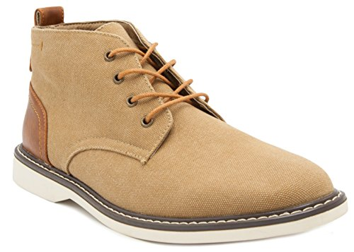 LONDON FOG Mens Belmont Chukka Boot Tan 11 M US