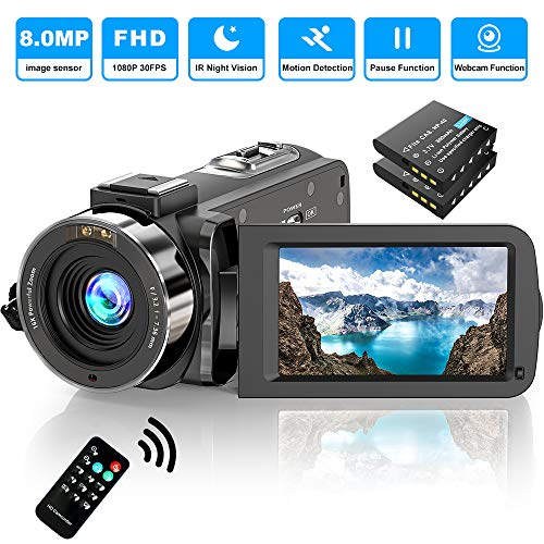 Video Camera Camcorder FHD 1080P 30FPS 36MP IR Night Vision YouTube...