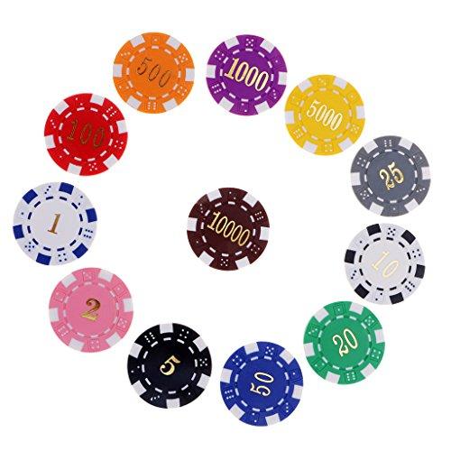 sharprepublic 12PCS Multi Farben Casino Clay Poker Chips Casino Chips Brettspiel Spielen