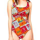 Nonbak bañador Mujer California Edición Limitada 55% PBT 45% poliéster una Pieza. Traje de baño Natación Triatlón Piscina .Doble Forro. (XS)