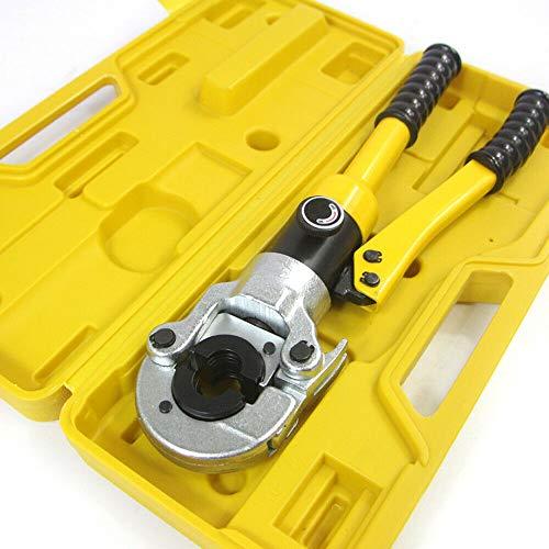 Yunrux - Alicates de prensado hidráulico, 12T, 16-32 mm, 360°, alicate de prensa, alicate hidráulico, crimpadora de tubos, prensador manual para cables, prensa radial