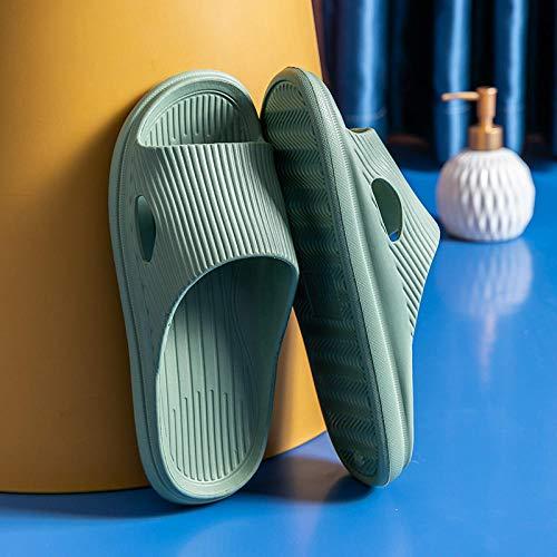ZZLHHD Ciabatte per Massaggio ai Piedi,Home Anti-Slip Couple Sandals, Soft Bottom Cozy Massage Slippers-Ink_38-39,Sandali per Massaggio con Digitopressione