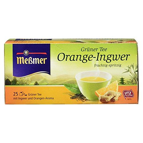 Meßmer Grüner Tee Orange-Ingwer 25 Teebeutel, 43,75 g Packung